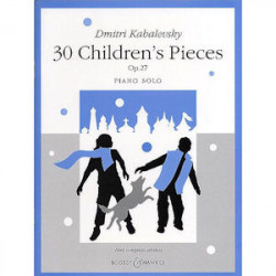 NUOTTI KABALEVSKY 30 CHILDRENS PIECES OP.70 /PIANO