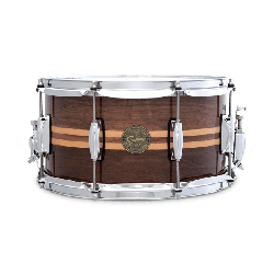 "VIRVELI GRETSCH 14""x6,5"" WALNUT SNARE /W MAPLE INLAY"